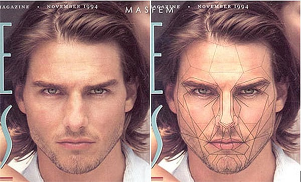 идеальные пропорции мужского лица фото косметики, без